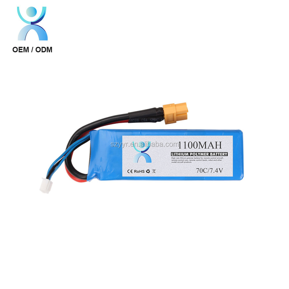 High discharge rate 35C 60C 7.4v 1000mah rc lipo battery for quadcopter