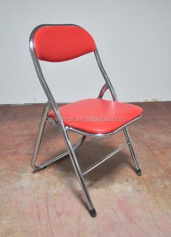 Cheap upholstered chromed 25mm metal folding chair NT2938 View folding cha