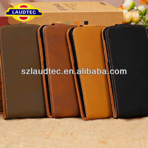 Flip leather case for iphone 5 ,High Quality Classical Leather Flip Case For IPhone 5C Laudtec