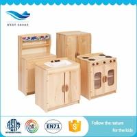 Dalian West Shore children wooden furniture kitchen daycare toys