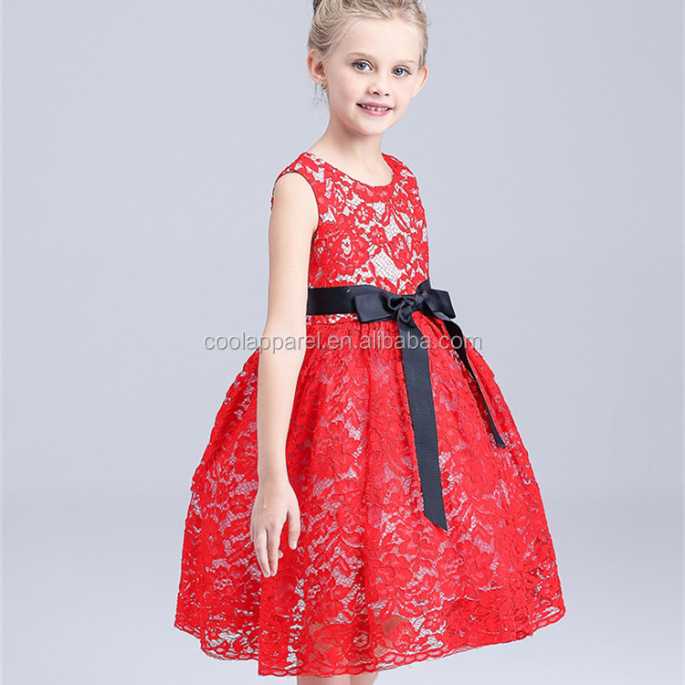 OEM bowknot kids party frocks modern wedding dresses baby girl maxi