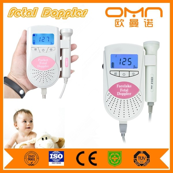 FDA CE Fetal Doppler to listen to baby's heartbeat at home
