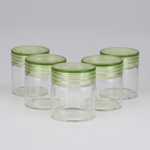 glass jar with plastic cap different sizes glass bottle food storage containers