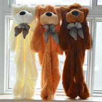 Cute Giant Teddy Bear Doll Plush Toy Only Cover Shell Skin Gift wholesale unstuffed plush animals