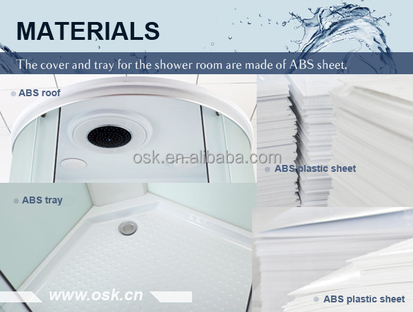 3 sided tempered glass shower enclosure OSK-820