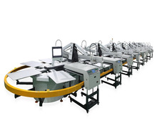 4-24 Color Guangzhou New Condition Automatic Oval Garment/Tshirt Screen Printing Machine