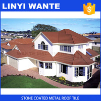 colorful stone coated metal roof tile,roofing shingle price for modern house