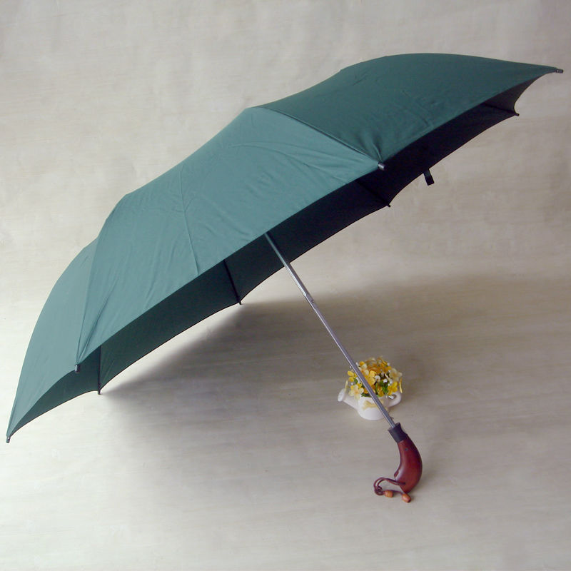 air umbrella 2- fold solid color umbrella with <strong>J</strong> handleXD-805