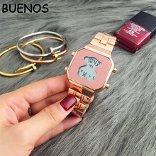 2018 Exquisite Fashion Bear Stainless Steel Watch for Women Wholesale