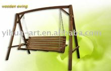 outdoor antique wooden swing