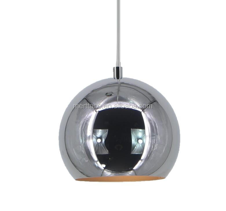 Modern Metal Crystal Glass chrome Ball Hanging Chandelier Pendant Lamp