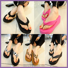Wholesale high heel flip-flops slipper platform flip flops women beach sandals 2017