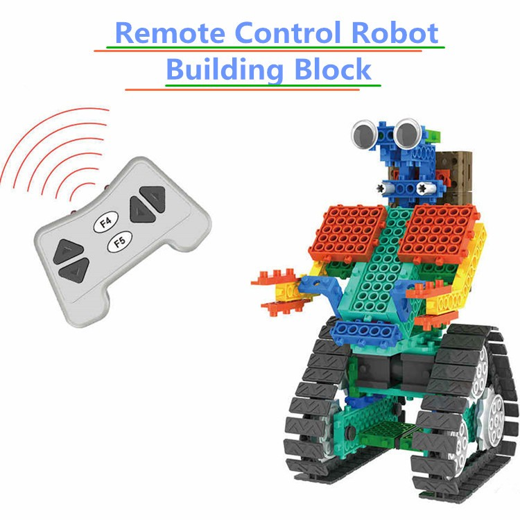 Creative toys RC Toys remote control Robot 2 in 1 Building Block Kit