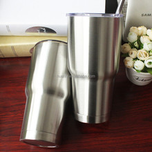 FDA Double wall stainless steel vacuum insulated beer cup tumbler beer mug with straw and lid