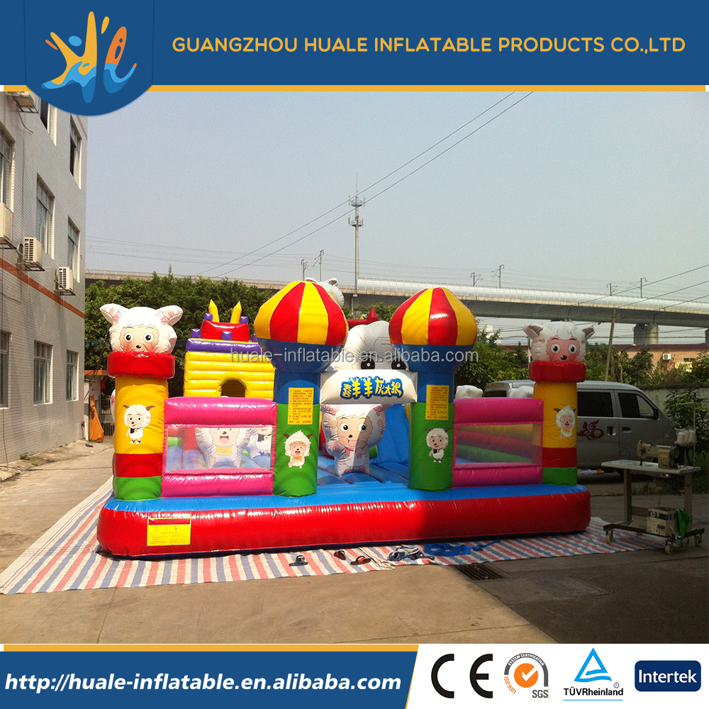 Used commercial inflatable cute cartoon toys jumping bouncer castle for kids play