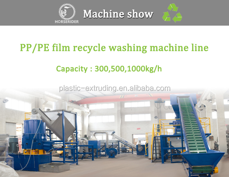 PP PE film washing recycling line/plastic pe pp rafia bags washing drying plant