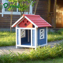 Open cheap outdoor wooden dog house