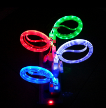Hot Sale Led Light Cable USB Durable fast charging Micro Android phone 2017