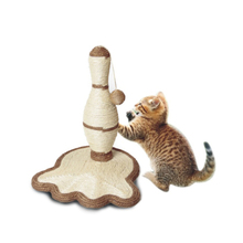Factory supply attractive price happy pet cat tree,cat scratching tree with toy