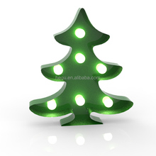 Marquee lighting sign Indoor Christmas tree led metal marquee decoration