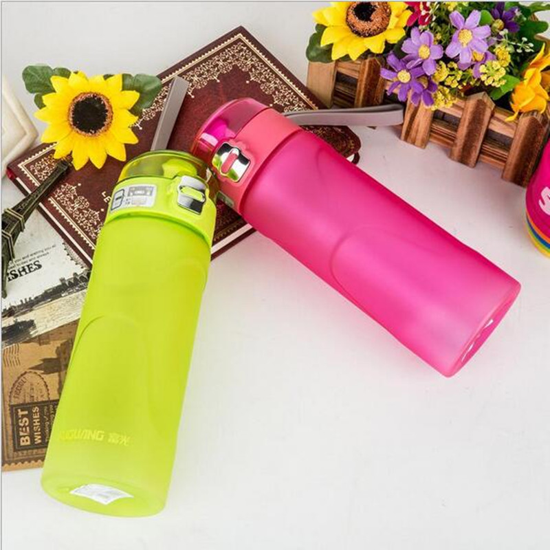 4 color BPA Free 550ml New youth Bounce Cover Sports Water Bottle Food Grade Plastic Cycling Outdoor Travel Camping Drink bottle