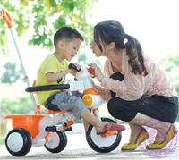 Multi Color Wholesale 3-1 Push Along Baby Plastic 3 Wheeler Trike