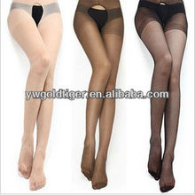 Wholesale clothing Sexy Silk Pantyhose Fashion Sheer Full Open Girl Ultra-thin Open Cheap Girls Tights