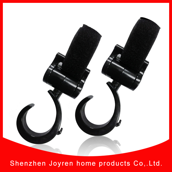 New product baby stroller mommy hook, stroller hook, 1set black