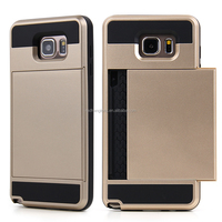 Colorful Hard PC Back Cover Case With Card Holer Slot For Samsung Galaxy Note 5