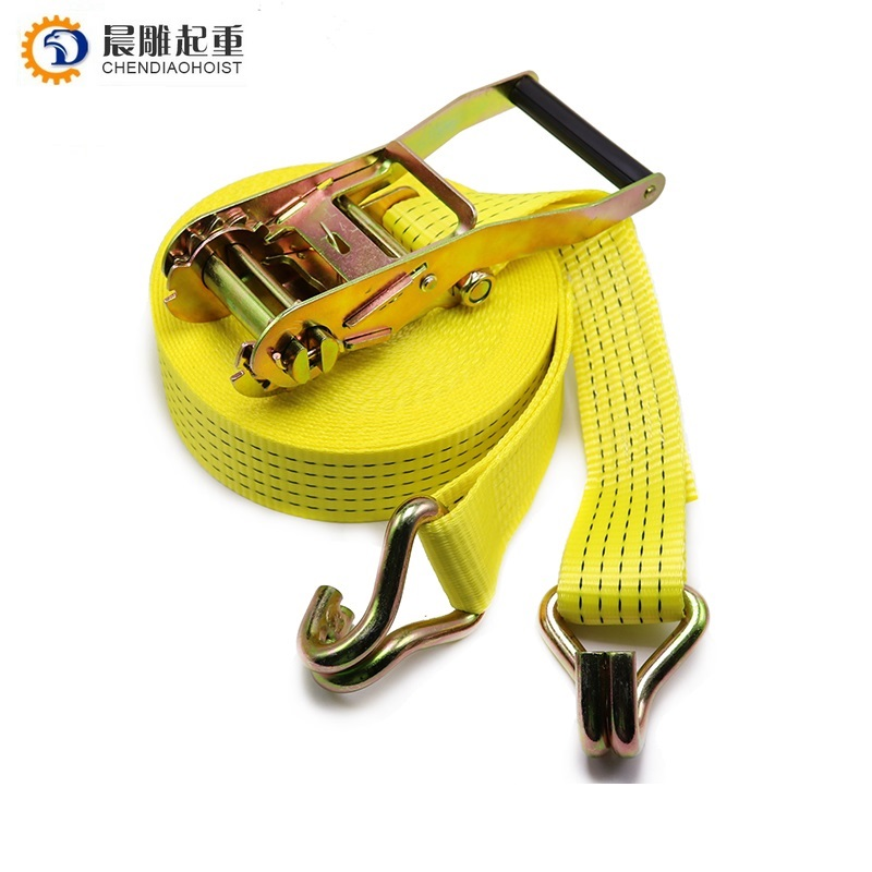 Custom double j hook 2 inch 50mm 4m 5m 6m 8m 10m 3 ton polyester strap cargo lashing belt car truck ratchet tie down