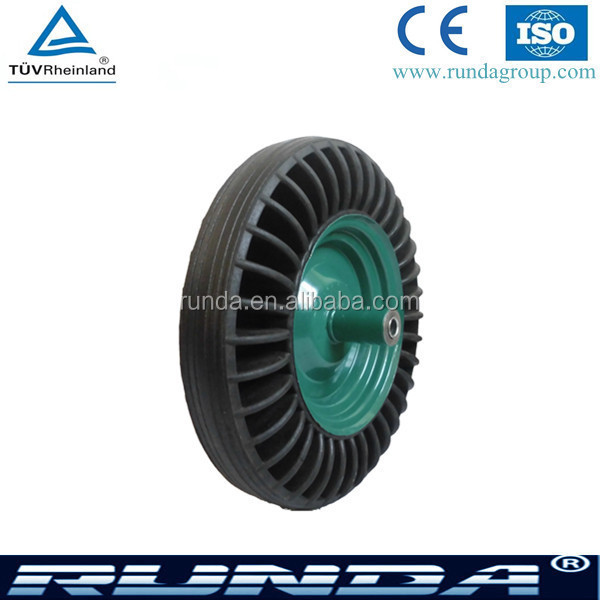 solid rubber type wheelbarrow tubeless wheels