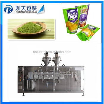 Horizontal garlic powder filling packing machine for flat pouch