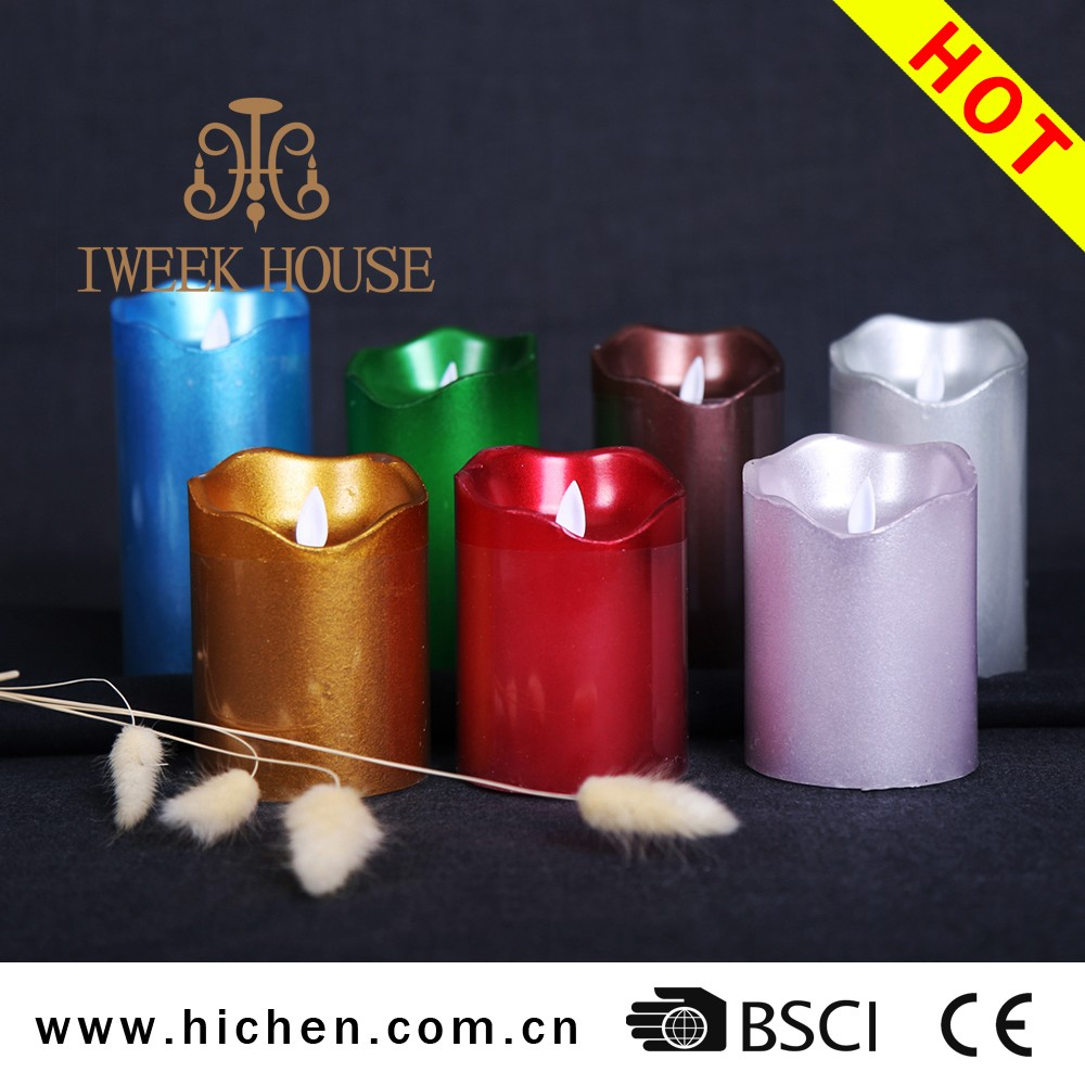 Hot selling remote control paraffin wax Moving Wick LED candle Light