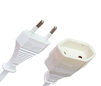german 2pin extension power cord, C7 power plug, female power plug