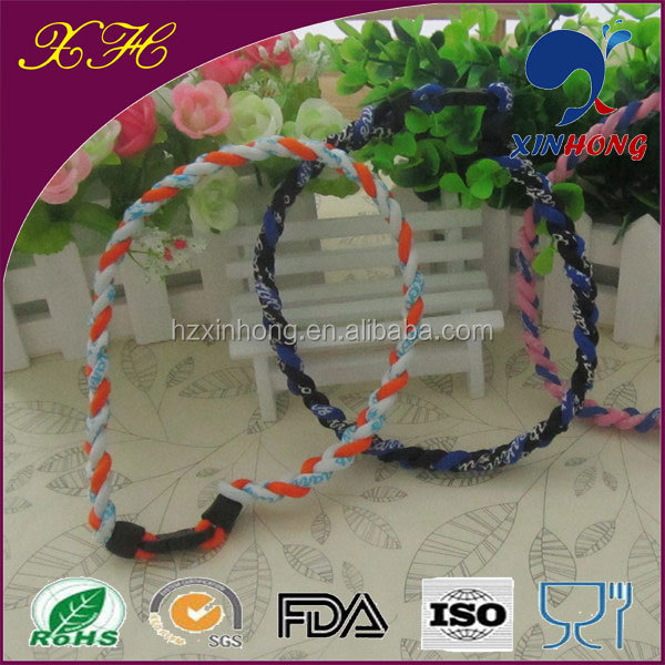 Hot sale women newest weave/knit nylon rope necklace