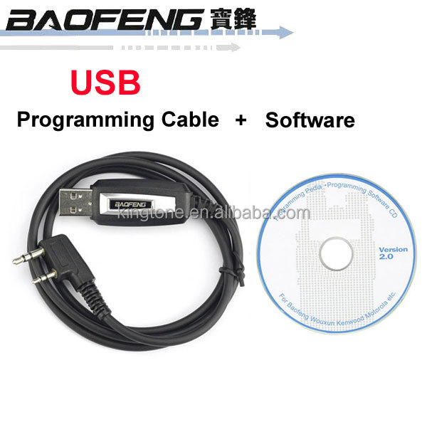 Original BAOFENG USB Programming Cable for BAOFENG UV-5R UV-3R+ 888S Two way Radio With Software Driver CD