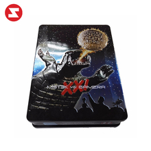 Custom VCD DVD Music Tin CD Can Wholesale Cheap Sale Square Metal Musical Tin Box Case for Packing
