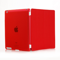 slim magnetic smart cover + PC back case for ipad 2 3 4