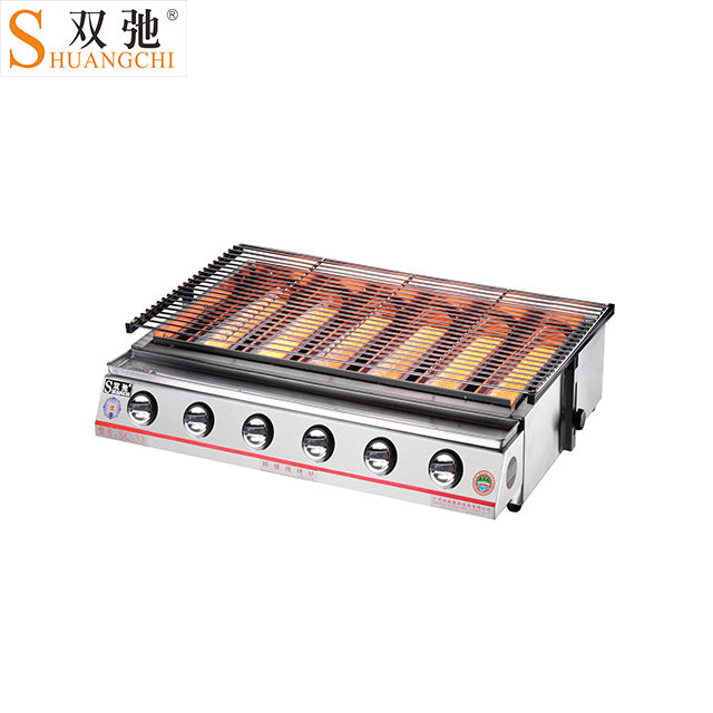 SC-33G hot selling products Commercial Stainless Steel Six Head Gas Bbq Grill barbecue japanese barbecue grills with low price