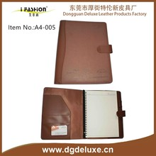 a4 old distressed pu leather binder