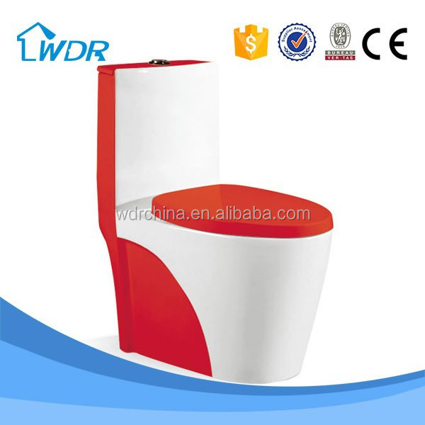 Bathroom porcelain red one-piece sanitary ware elegant design toilet
