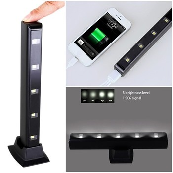 New products 2015,with CE FCC Rohs mobile charger power bank with desktop and travel led light
