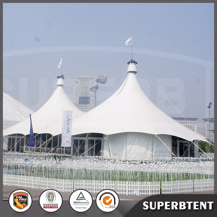 Pole aluminum stretch tents in china