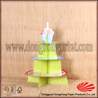 Birthday party cardboard 3 tier cupcake stand