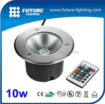 Outdoor 12v 24v 85-265v high power COB 10w recessed ground led underground lamp