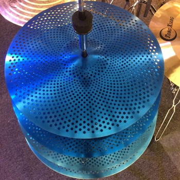 Hot sale blue silent cymbals set mute cymbal for drums
