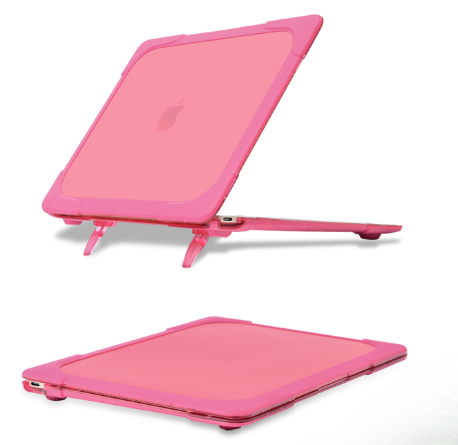 New 2 in 1 Laptop Case with Laptop Stand TPU PC Case for MacBook New 12 Retina