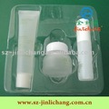 Transparent blister tray for cosmetics