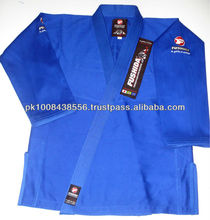 Pakistan style double weave blue wholesale 100%cotton men Jiu Jitsu new design for fightwear