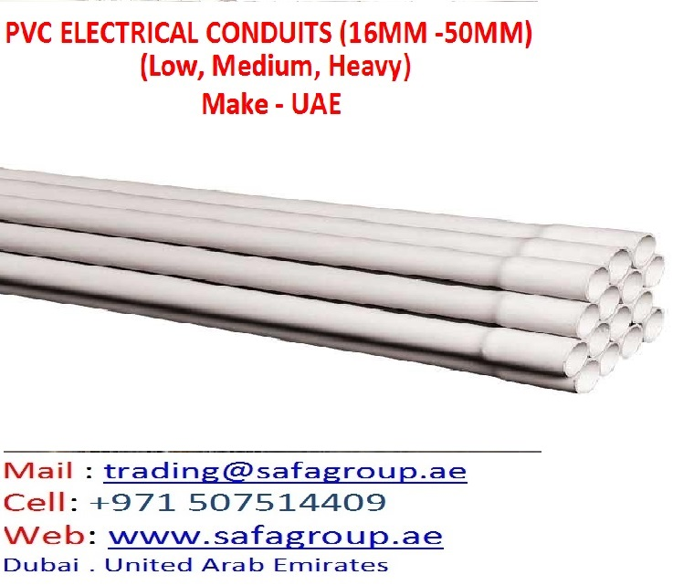 PVC ELECTRICAL CONDUITS WHITE (WITH SOCKET) FOR EXPORT TO AFRICA IRAQ SUDAN ALGERIA IRAN LIBYA NIGERIA